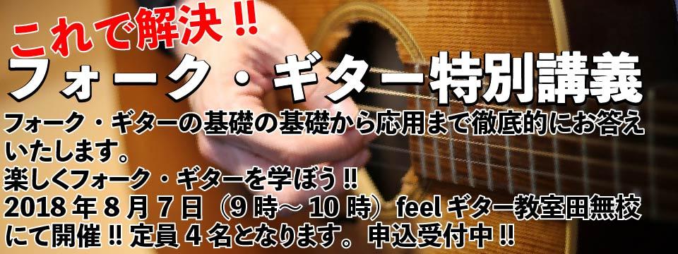 フォーク・ギター特別講座(feelギター教室 西東京市田無校)
